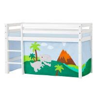 Hoppekids BASIC Halfhigh Bed with Dinosaur Curtain