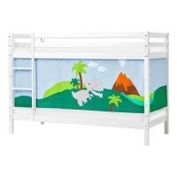 Hoppekids BASIC Bunk Bed with Dinosaur Curtain