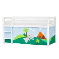 Hoppekids PREMIUM Halfhigh Bed with Dinosaur Curtain