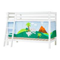 Hoppekids PREMIUM Bunk Bed with Dinosaur Curtain