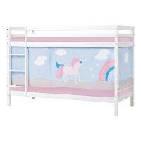 Hoppekids BASIC Bunk Bed with Unicorn Curtain