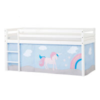 Hoppekids BASIC Halfhigh Bed (Non-Dividable) with Unicorn...