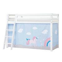 Hoppekids PREMIUM Midhigh Bed with Unicorn Curtain