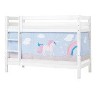 Hoppekids PREMIUM Bunk Bed with Unicorn Curtain
