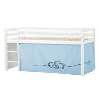 Hoppekids BASIC Halfhigh Bed with Cars Curtain