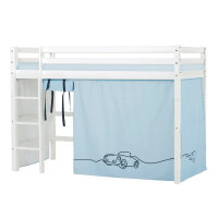 Hoppekids BASIC Midhigh Bed with Cars Curtain
