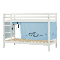 Hoppekids BASIC Bunk Bed (Non-Dividable) with Cars Curtain