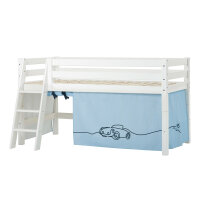 Hoppekids PREMIUM Halfhigh Bed with Cars Curtain