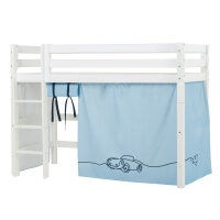 Hoppekids PREMIUM Midhigh Bed with Cars Curtain