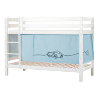 Hoppekids PREMIUM Bunk Bed with Cars Curtain