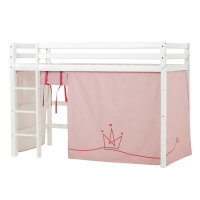 Hoppekids BASIC Midhigh Bed with Princess Curtain