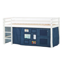 Hoppekids BASIC Halfhigh Bed with Creator Curtain in...