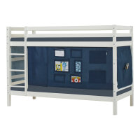 Hoppekids BASIC Bunk Bed with Creator Curtain in Orion Blue