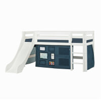 Hoppekids PREMIUM Halfhigh Bed with Slide and Creator...