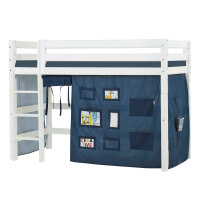 Hoppekids PREMIUM Midhigh Bed with Creator Curtain in Orion Blue