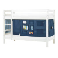 Hoppekids PREMIUM Bunk Bed with Creator Curtain in Orion Blue