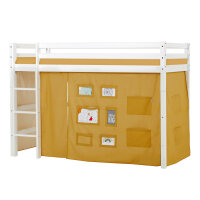 Hoppekids BASIC Midhigh Bed with Creator Curtain in...