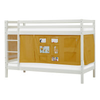 Hoppekids BASIC Bunk Bed (Non-Dividable) with Creator Curtain in Autumn Yellow