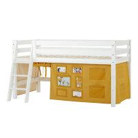Hoppekids PREMIUM Halfhigh Bed with Creator Curtain in...