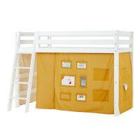 Hoppekids PREMIUM Midhigh Bed with Creator Curtain in...