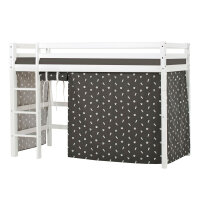 Hoppekids BASIC Midhigh Bed with Pets Curtain in Granite Grey