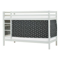 Hoppekids BASIC Bunk Bed with Pets Curtain in Granite Grey