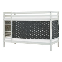 Hoppekids BASIC Bunk Bed (Non-Dividable) with Pets Curtain in Granite Grey