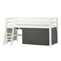 Hoppekids PREMIUM Halfhigh Bed with Pets Curtain in...