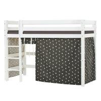 Hoppekids PREMIUM Midhigh Bed with Pets Curtain in Granite Grey