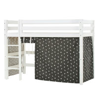 Hoppekids PREMIUM Midhigh Bed with Pets Curtain in...