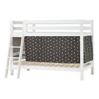 Hoppekids PREMIUM Bunk Bed with Pets Curtain in Granite Grey