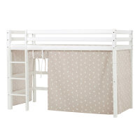 Hoppekids BASIC Midhigh Bed with Pets Curtain in Silver...