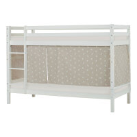 Hoppekids BASIC Bunk Bed with Pets Curtain in Silver Cloud