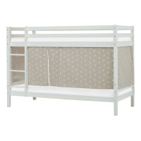 Hoppekids BASIC Bunk Bed (Non-Dividable) with Pets Curtain in Silver Cloud