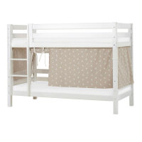 Hoppekids PREMIUM Bunk Bed with Pets Curtain in Silver Cloud