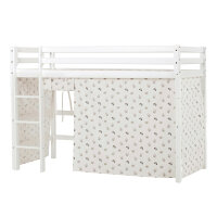 Hoppekids BASIC Midhigh Bed with Pets Curtain in Pristine