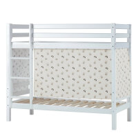 Hoppekids BASIC Bunk Bed (Non-Dividable) with Pets Curtain in Pristine