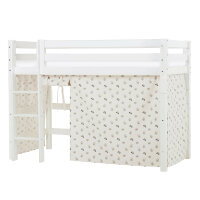 Hoppekids PREMIUM Midhigh Bed with Pets Curtain in Pristine