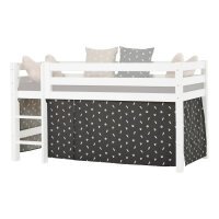 Hoppekids Curtain Pets in Granite Grey for Halfhigh Bed