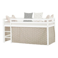 Hoppekids Curtain Pets in Silver Cloud for Halfhigh Bed