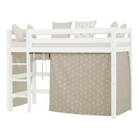 Hoppekids Curtain Pets in Silver Cloud for Midhigh Bed