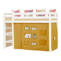 Hoppekids Curtain Creator in Autumn Yellow for Midhigh Bed