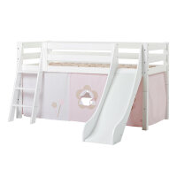Hoppekids PREMIUM Half high bed with slide and Fairytale...