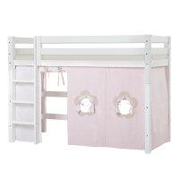 Hoppekids PREMIUM Midhigh bed with Fairytale Flower curtain