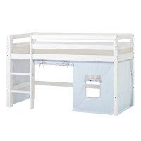 Hoppekids BASIC Halfhigh Bed with Fairytale Knight Curtain