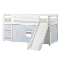 Hoppekids PREMIUM Halfhigh Bed with Slide and Fairytale...