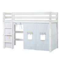 Hoppekids PREMIUM Midhigh Bed with Fairytale Knight Curtain