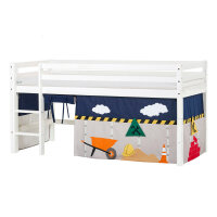 Hoppekids BASIC Halfhigh Bed with Construction Curtain