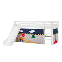 Hoppekids BASIC Halfhigh Bed with Slide and Construction...