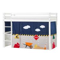 Hoppekids BASIC Mittelhochbett mit Construction Vorhang